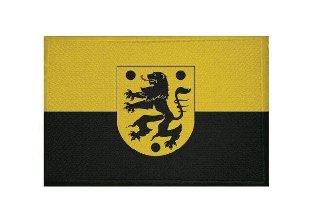 Aufnäher Oelsnitz (Vogtland) Fahne Flagge Aufbügler  Patch 9 x 6 cm