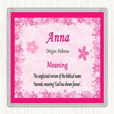 Nome Anna Significato Bevande Mat Coaster Rosa-