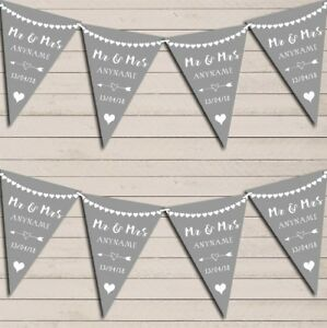 Heart-Mr-amp-Mrs-Light-Silver-Grey-Wedding-Anniversary-Bunting-Party-Banner