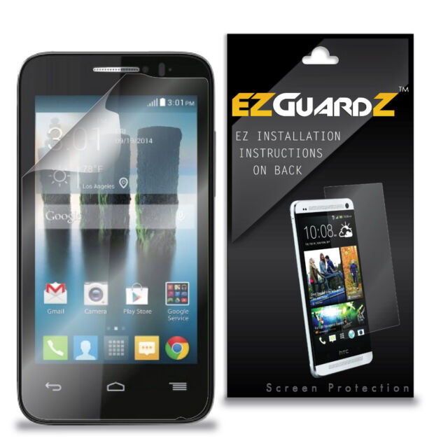 3X EZguardz NEW Screen Protector Skin Cover HD 3X For Alcatel OneTouch Evolve 2