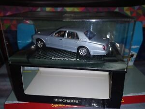 MINICHAMPS-1-43-BENTLEY-ARNAGE-R-BLUE-METALLIC-NEUF-EN-BOITE