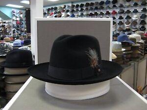 fab480cdc26 Image is loading STETSON-SIENNA-BLACK-FUR-FELT-FEDORA-DRESS-HAT