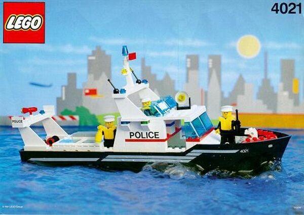 LEGO 4021 - Boat  Police  Police Patrol - 1991