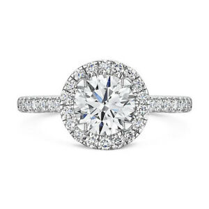 0-80-Ct-Round-Solid-White-Gold-14K-Real-Diamond-Women-039-s-Rings-Size-4-5-5-6-5-7