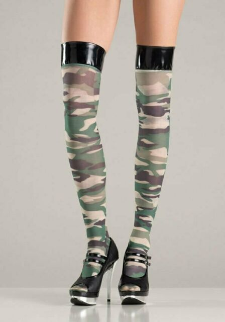 38a2039dc36 BeWicked 750 Vinyl   Camouflage Thigh High Stockings (As Shown One Size)