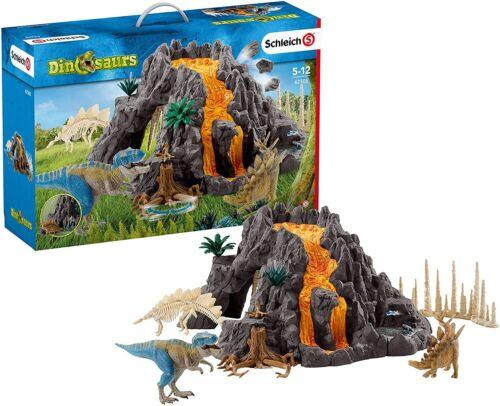 Schleich shreich Dino Volcán y Tiranosaurio gran conjunto grande figura 42305 FedEx