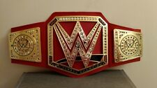 WWE RED UNIVERSAL CHAMPIONSHIP TITLE WRESTLING BELT ROMAN REIGNS BROCK LESNAR