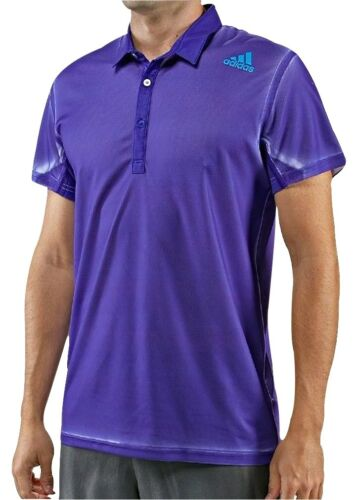 adidas Adizero Short Sleeve Mens Tennis Polo Shirt Purple