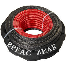 Zeak 1265 Black Synthetic Winch Rope 24000 Lb Winch Recovery Winch Cable