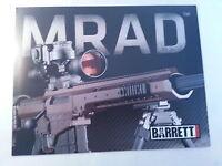 Barrett Mrad Firearm Gun Data Sheet Style 1 /