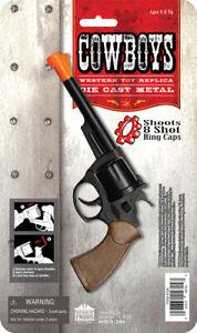 Metal-357-Magnum-POLICE-Detective-Cop-Cap-Gun-Pistol-Toy-Cowboy-Costume-boy