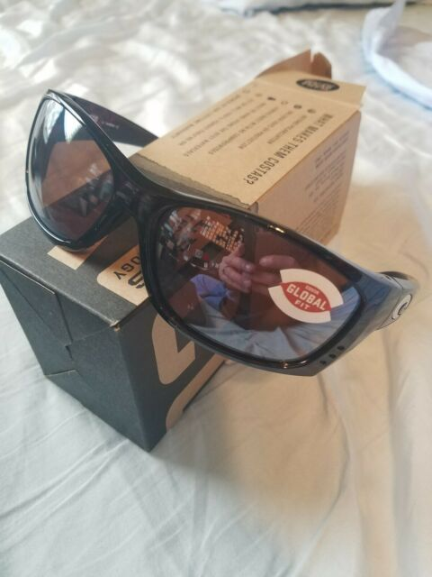Costa Del Mar Fantail Polarized Sunglasses 580G Glass Global Fit Tortoise//Gray