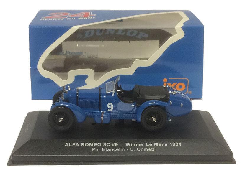 Ixo LM1934 alfa  romeo 8C  9 le hommes winner 1934-échelle 1 43  choix à bas prix