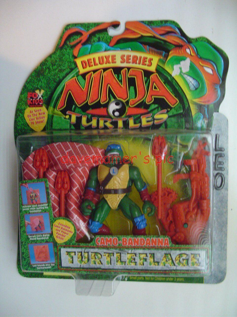 Tmnt Tortugas Ninja Deluxe Series Camo Pañuelo Leo acción figura turtleflage