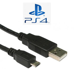 PS4 Controller Charger Cable Lead 3m Long A Male to MICRO B USB 2.0