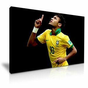 FOOTBALL-NEYMAR-PICTURE-PRINT-CANVAS-WALL-ART-VARIOUS-SIZES