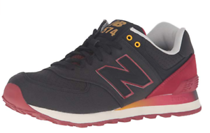 New Balance Men's ML574RAA Gradient Pack Fashion Sneaker - Black Red