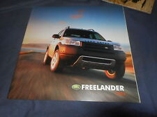 2001 Land Rover Freelander USA Market Brochure Catalog Prospekt