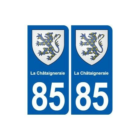 85 La Châtaigneraie blason autocollant plaque stickers ville droits
