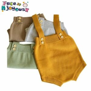 Objectif Baby Knitting Rompers Cute Overalls Newborn Baby Girls Boys Clothes Infantil