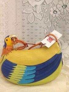 Tasche Seltene Braccialini Gelb Thema Papagei fBpSfOr