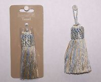 12 Tassels Baby Blue / Yellow Color Rayon 3-1/4 Sewing Craft Supply