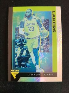 E87-2019-20-Panini-Chronicles-Flux-LeBron-James-Silver-Refractor-591-LA-Lakers