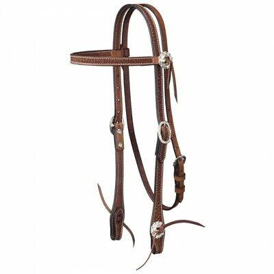 D.A Brand Latigo  Headstall w// Silver Spots Horse Tack