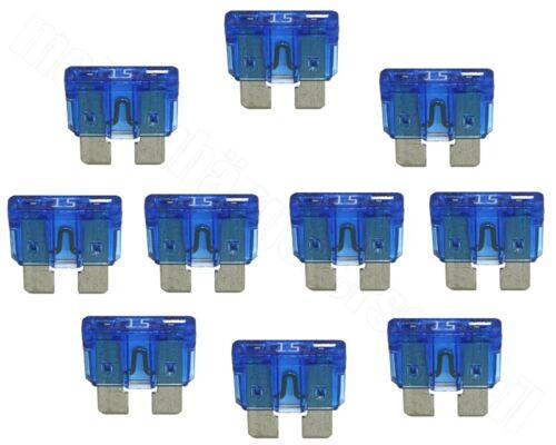10x vehículo fusibles planos ato 15a azul pálido 15 a amperios 32v