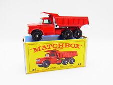 "LOT 33361 | Matchbox 48 C Dodge Dumper Truck LKW Kipper neuwertig in ""E""-Box"