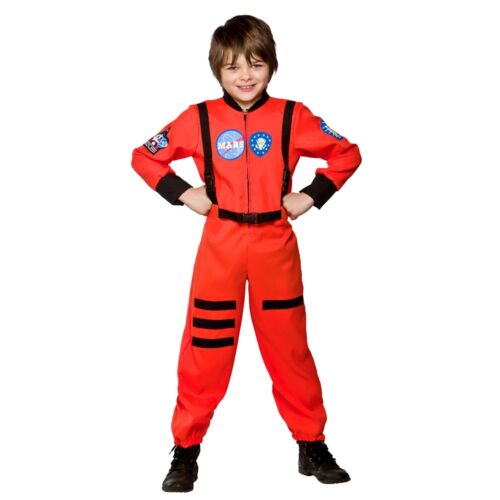 Boys MISSION TO MARS SPACE Fancy Dress Book Week Astronaut Kids Costume Age 3-10