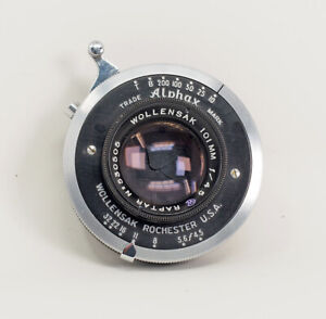 Wollensak-Raptar-101mm-F4-5-Lens-Alphax-Shutter-Coated-Clean-Serviced