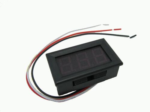 DC0V-30.0V 3 Digital LED Volt Voltage Meter Voltmeter 5V 12V 24V Car Battery RGB