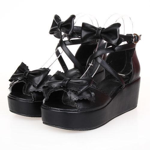 Gothic Goth Sweet Lolita Schuhe schuhe sandals Sandalen Pumps Cosplay Kostüm Neu