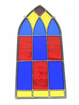 Vintage Stained Glass Window Arch Panel
