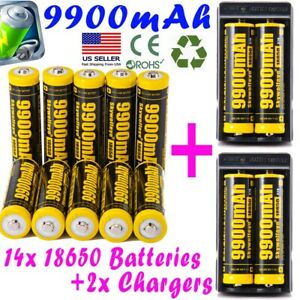 9900mAh-Powerful-10Pcs-18650-Battery-Li-ion-3-7v-Rechargeable-Battery-Charger