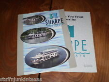 Sharpe Houseboat Catalog & Spec Sheet from approximately 1999