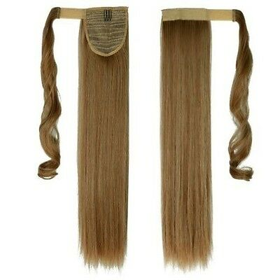 Excellent Long Ombre Wrap Around Ponytail Hair Extensions Clip In Fake Hairpiece