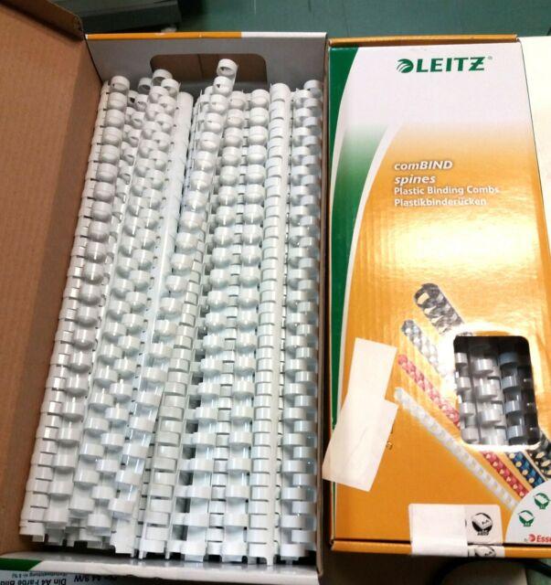 Leitz Plastikbinder/ücken 19 mm wei/ß 100 St/ück