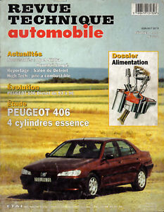 Rta Revue Technique L'expert Automobile N° 592 Peugeot 406 4 Cylindre Essence Non Repassant