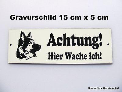 DOGGE HIER WACHE ICH Blechschild 20x30 cm 23005