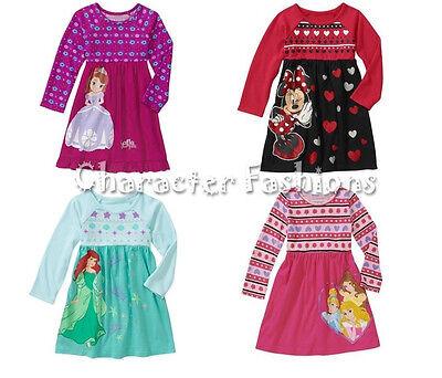 SOFIA THE FIRST MINNIE MOUSE ARIEL PRINCESS 12 18 24 Mo 2T 3T 4T 5T DRESS DISNEY