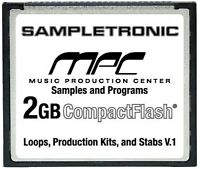 2GB of Samples & Programs for the AKAI MPC 500 on CompactFlash 2 GIG CF Card