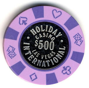 HOLIDAY CASINO  INTERNATIONAL OBS LAS VEGAS   $5  COIN INLAY CHIP