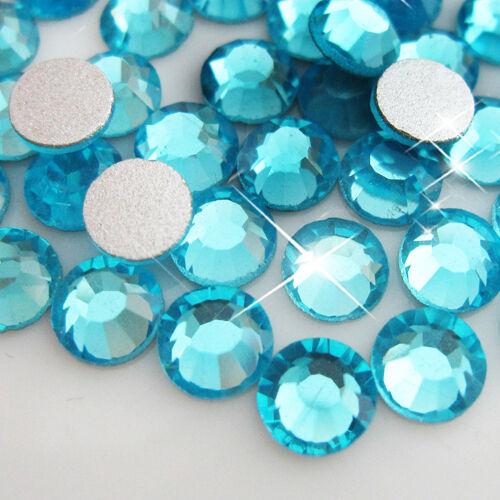 1440p Aquamarine Crystal flatback DIY Rhinestones for Nail Art phone case decor