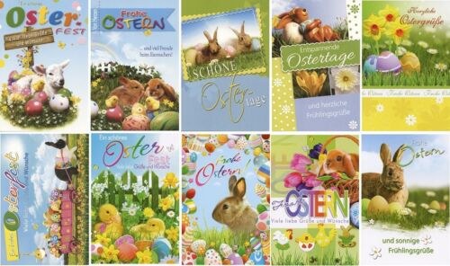 50/100 Osterkarten Ostern Osterkarte Grußkarten Glückwunschkarten 132650 TA