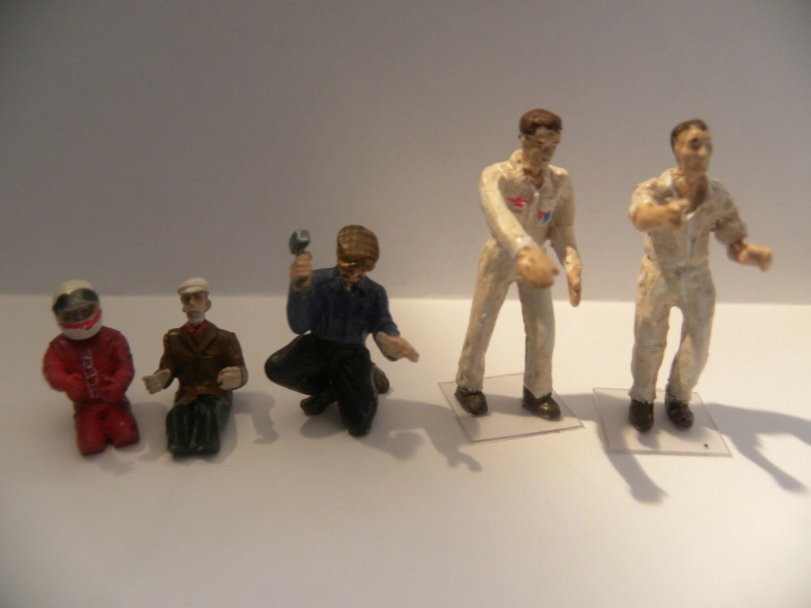5 Figurines Diorama peintes main 1 43 Pilotes Mécaniciens (Uniques)
