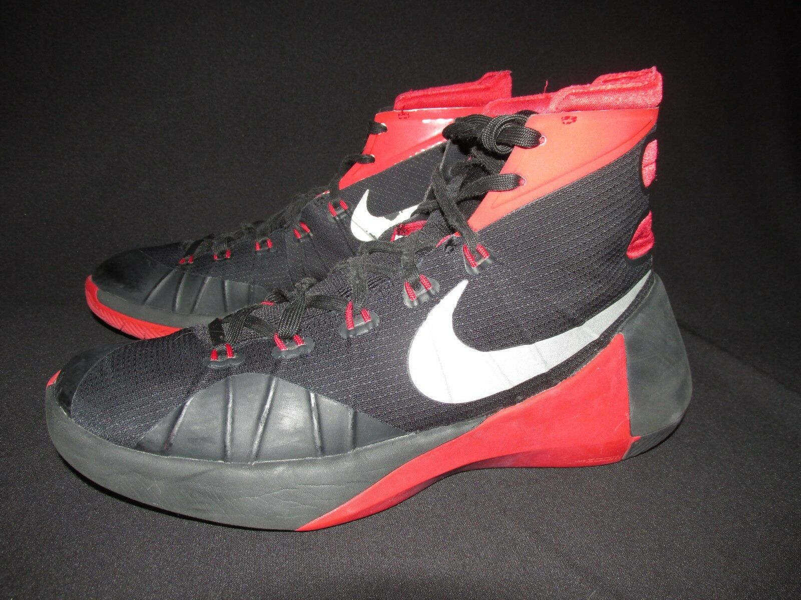 Nike HyperDunk Red Black High Top Basketball Shoes Men's US 8.5M Seasonal price cuts, discount benefits