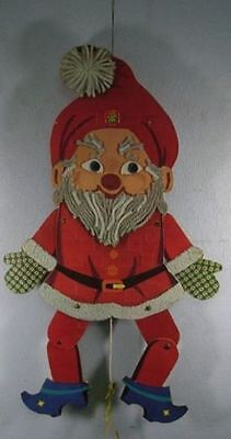 Vintage German Dresden Cardboard Santa Claus Jumping Jack #<