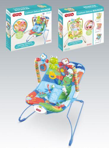 Newborn Baby Kick N Play Musical Bouncer Baby Rocker Reclining Vibration Chair